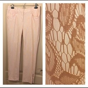 Cache lace pants with ankle zippers